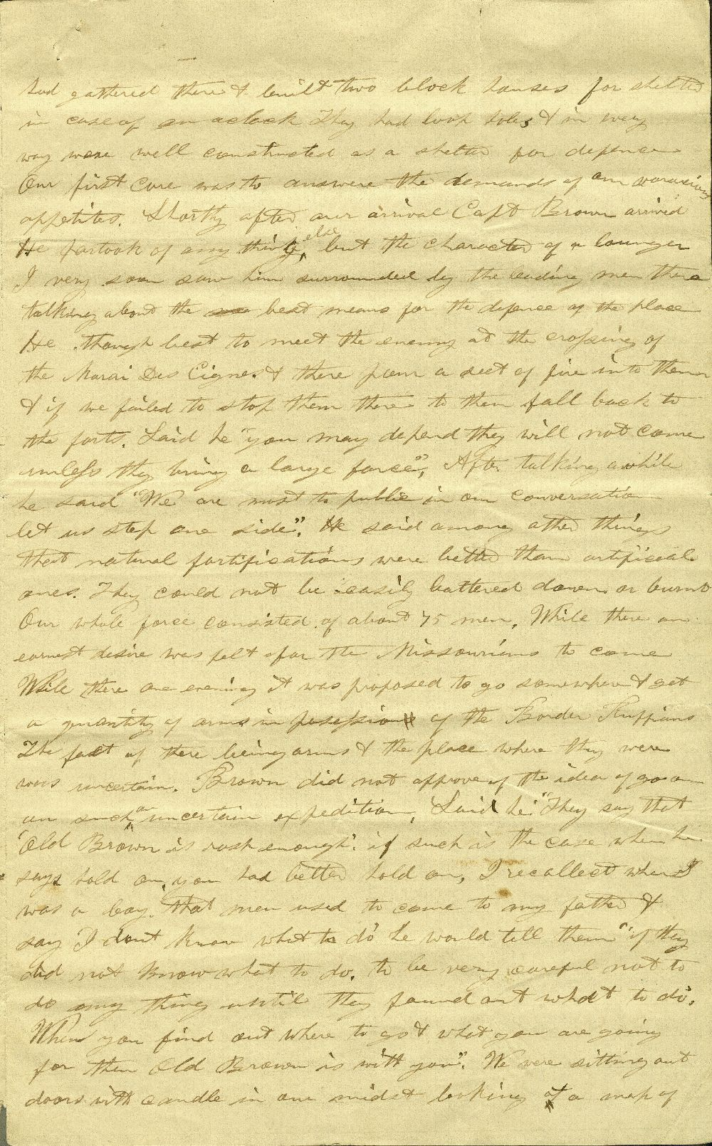 C. G. Allen's response to Redpath and Hinton's call for information about John Brown - 3
