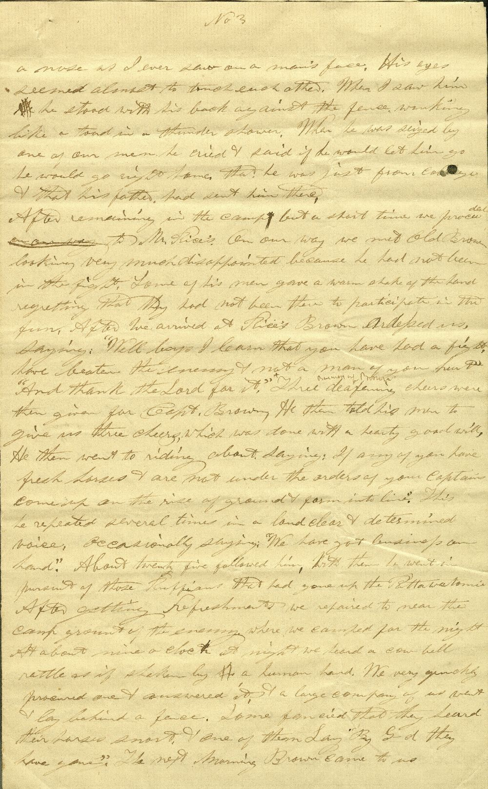C. G. Allen's response to Redpath and Hinton's call for information about John Brown - 9