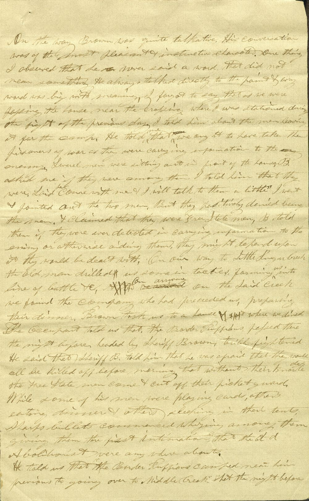 C. G. Allen's response to Redpath and Hinton's call for information about John Brown - 11