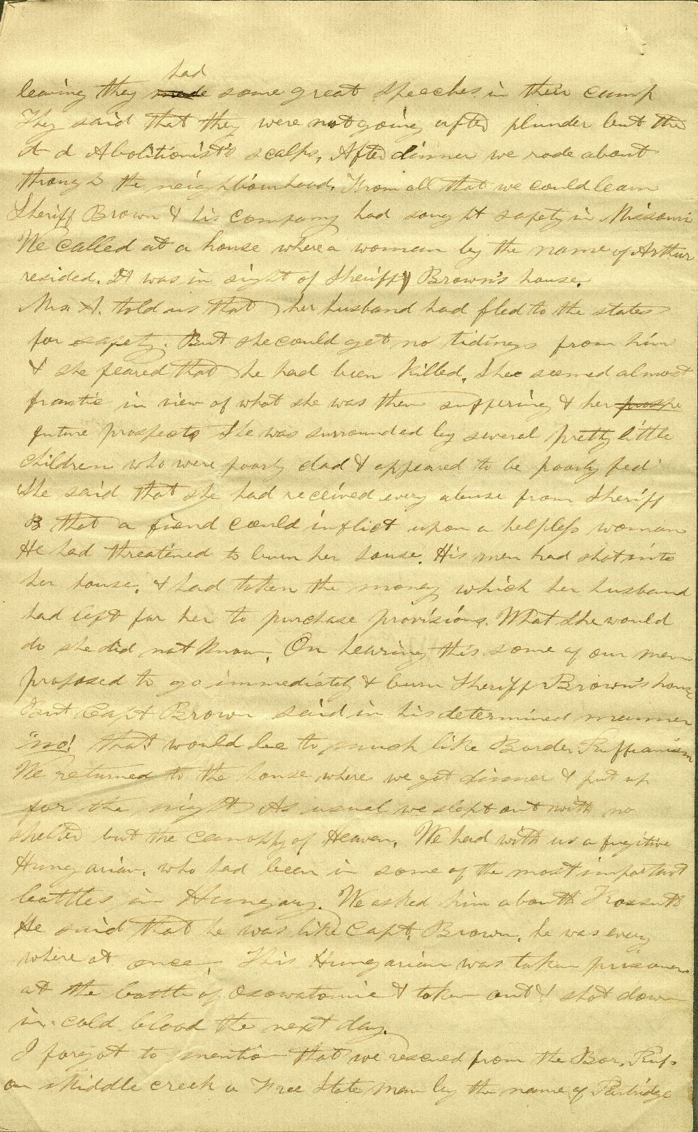 C. G. Allen's response to Redpath and Hinton's call for information about John Brown - 12