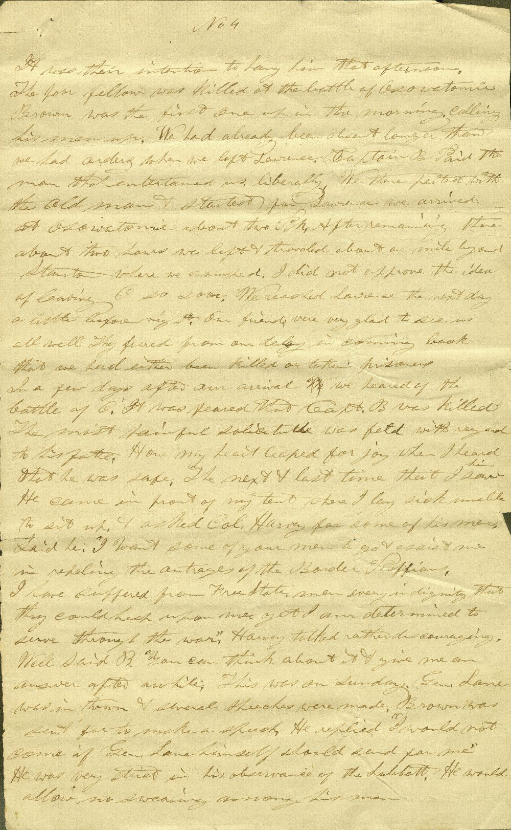C. G. Allen's response to Redpath and Hinton's call for information about John Brown - 13