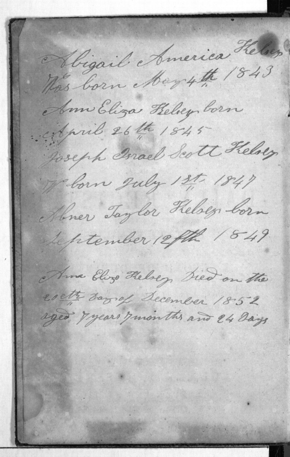 Dandridge E. Kelsey's 1854 diary - ii