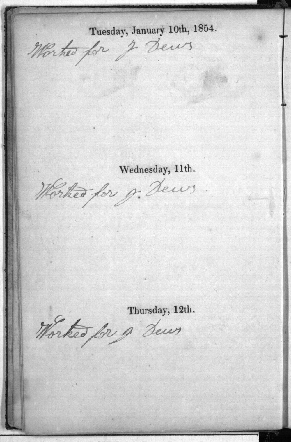 Dandridge E. Kelsey's 1854 diary - 4