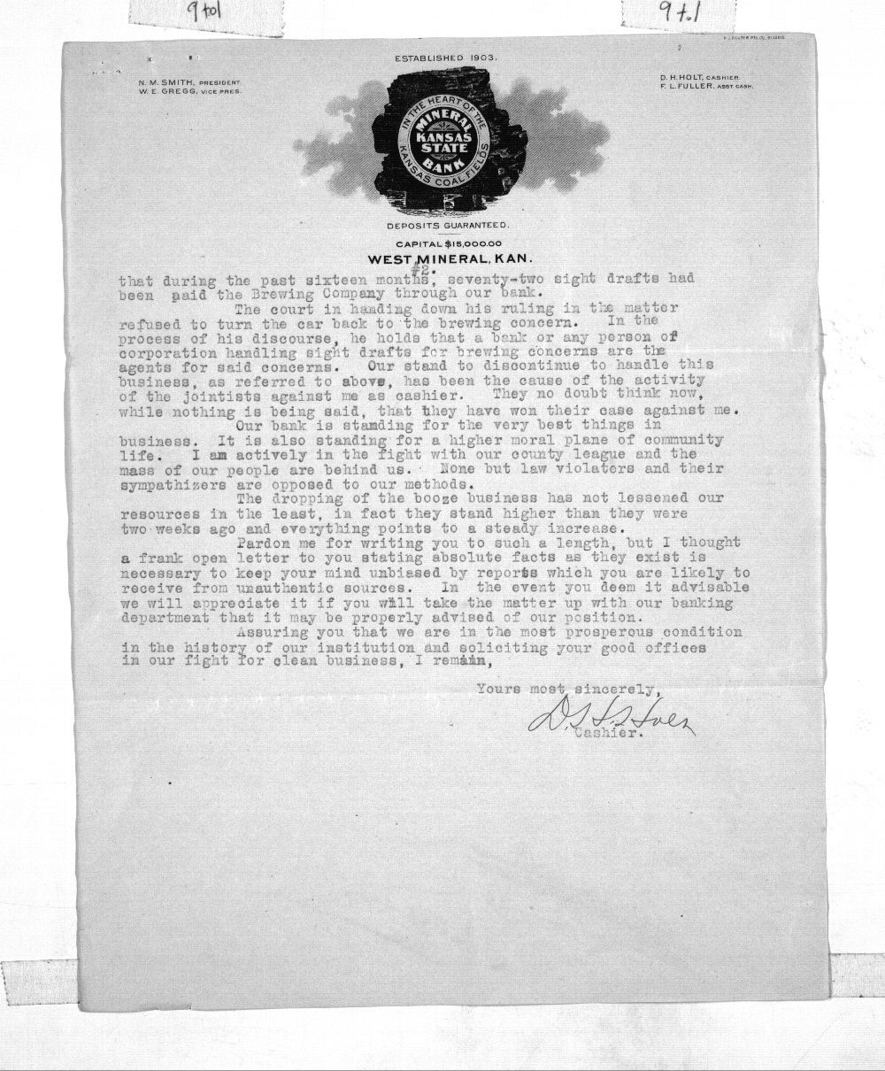 D. H. Holt to Governor George Hartshorn Hodges - 2