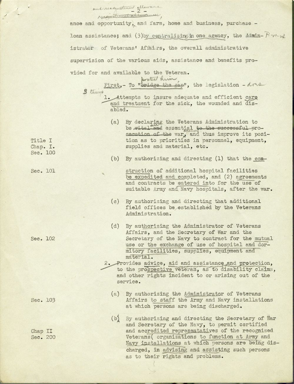 Testimony concerning the G. I. Bill of Rights presented by Harry W. Colmery - 2