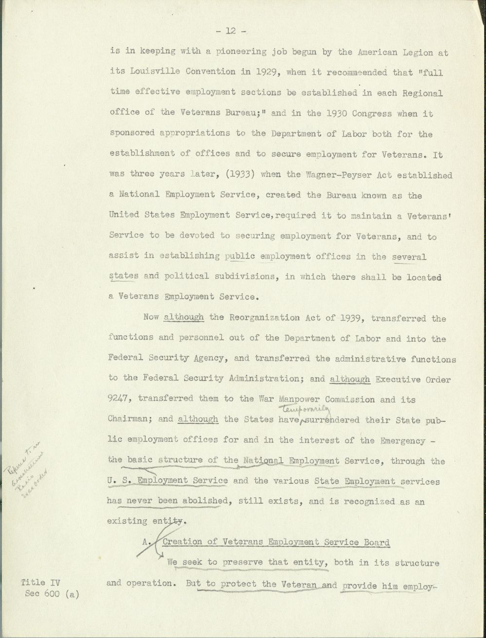 Testimony concerning the G. I. Bill of Rights presented by Harry W. Colmery - 12