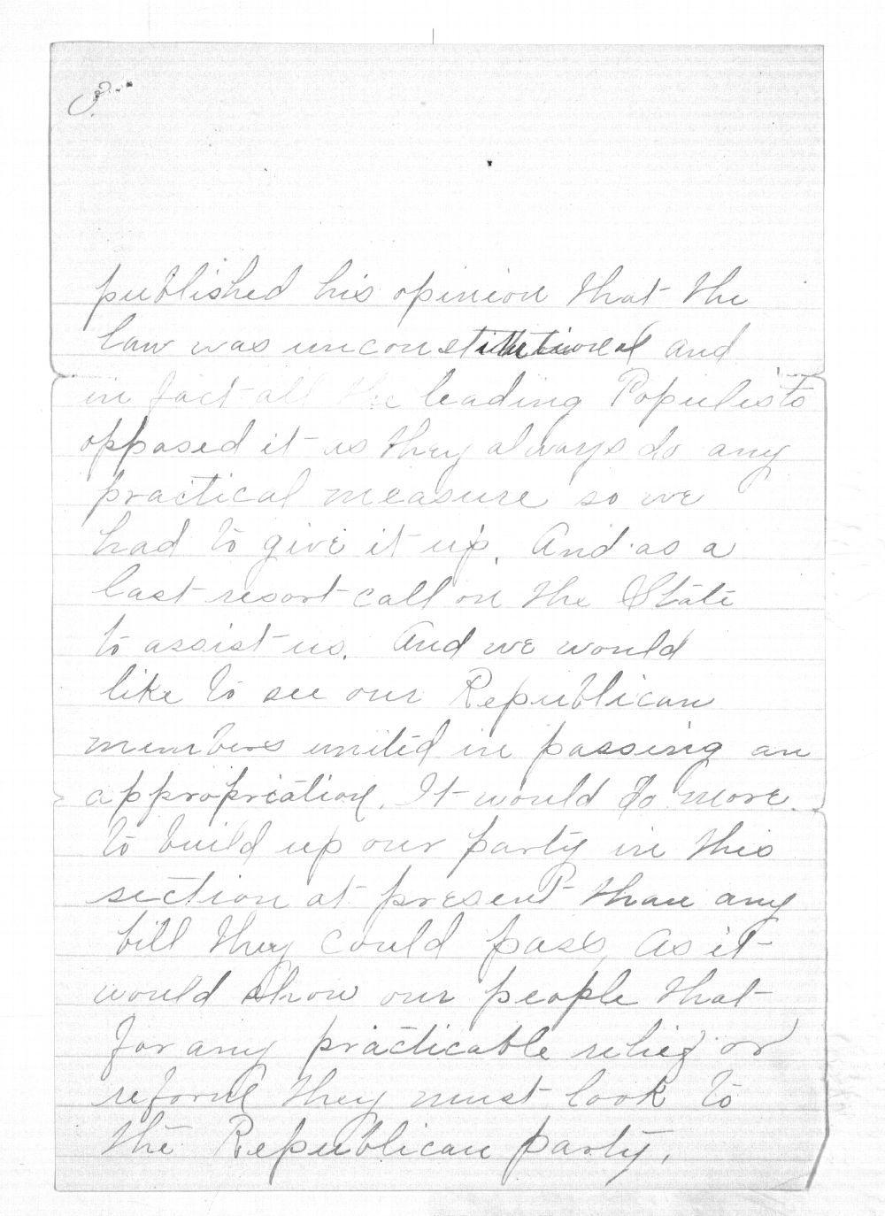C. C. Evans to Governor Edmund Morrill - 3