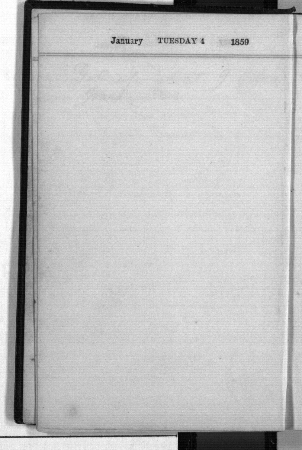 Daniel Mulford Valentine's diary - Jan 4