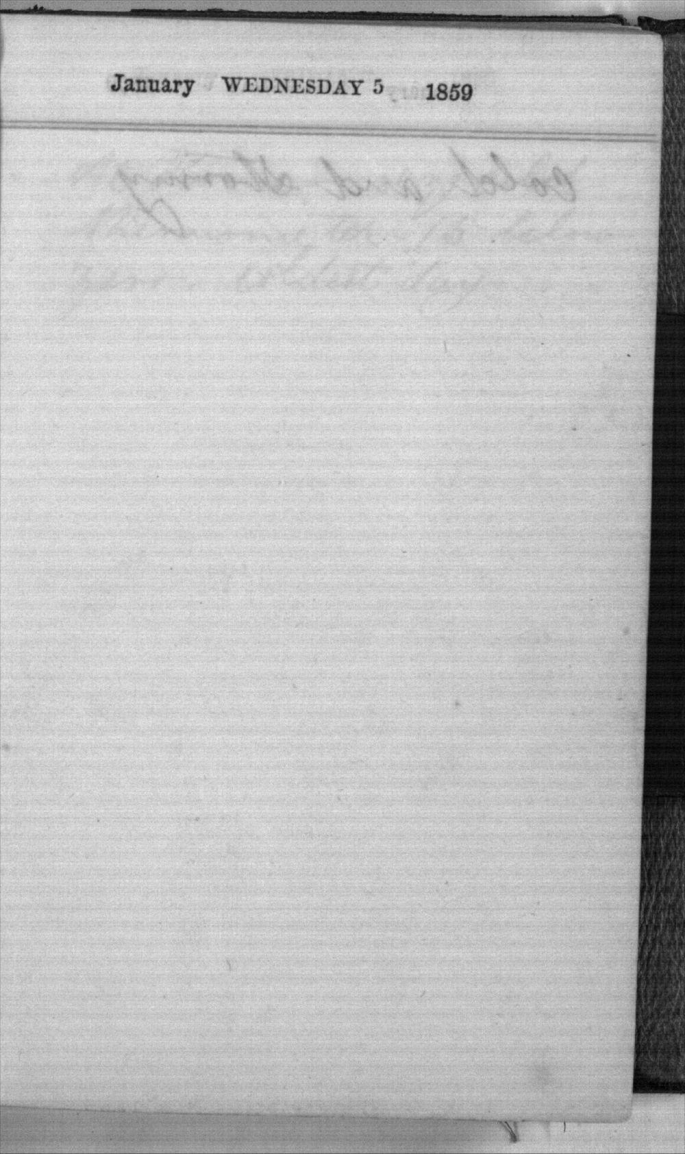 Daniel Mulford Valentine's diary - Jan 5