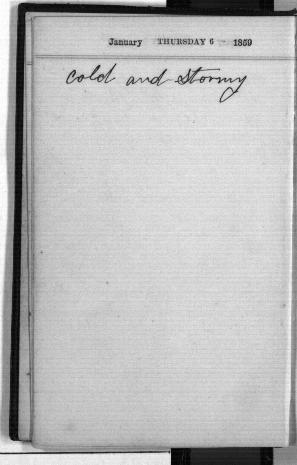 Daniel Mulford Valentine's diary - Jan 6