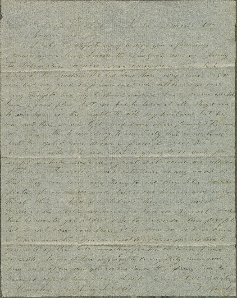 Amelia Josephine Labedia to James W. Denver - 1