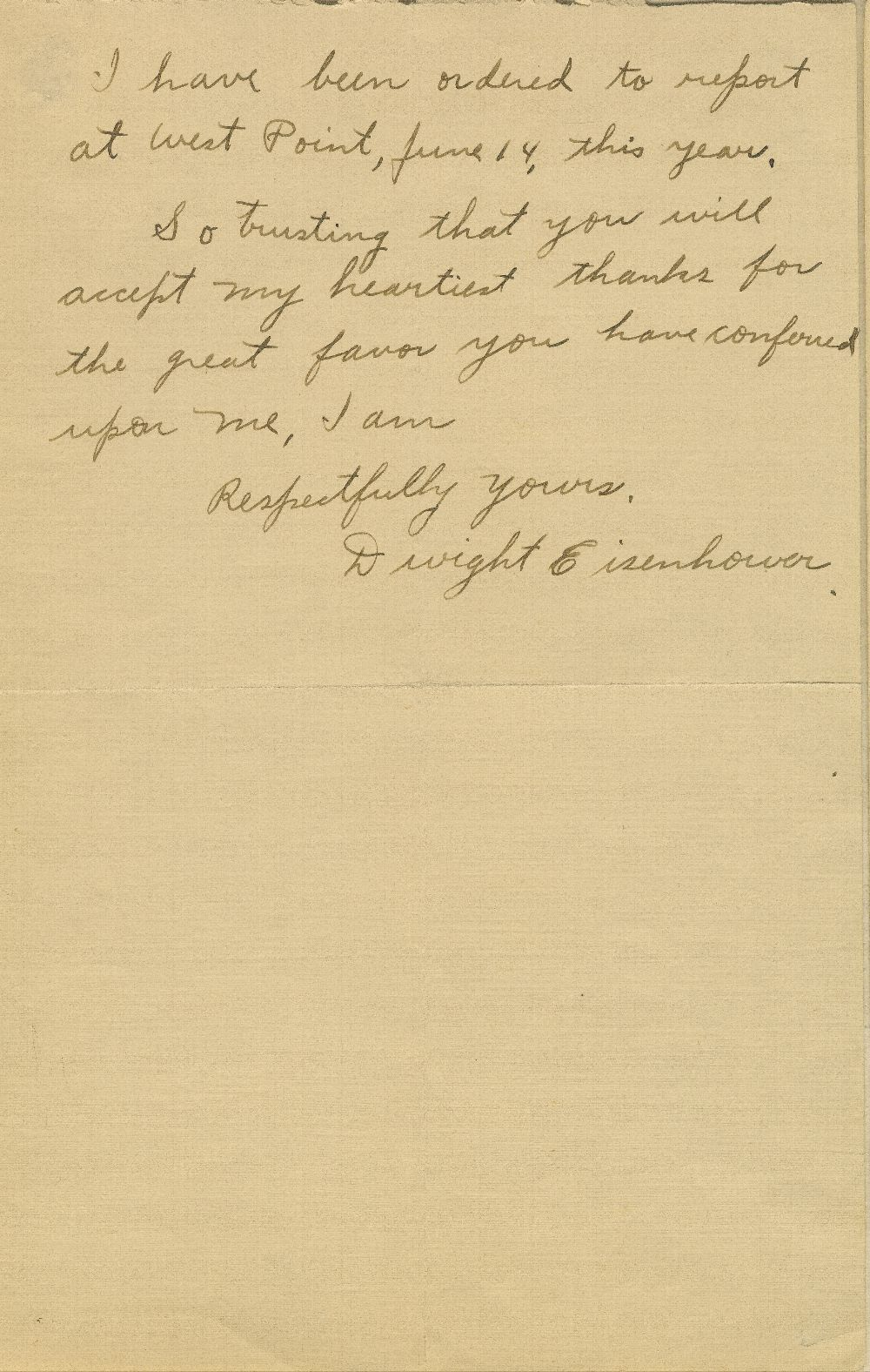 Dwight David Eisenhower to Joseph Little Bristow, United States Senator - 2
