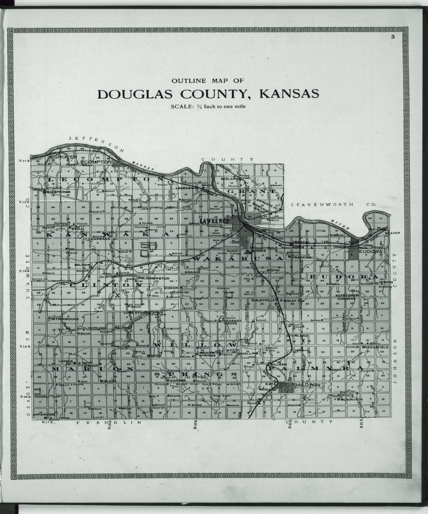 Plat book and complete survey of Douglas County, Kansas - 3