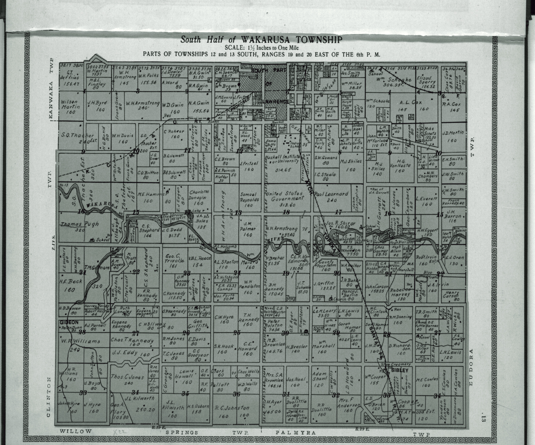 Plat book and complete survey of Douglas County, Kansas - 13