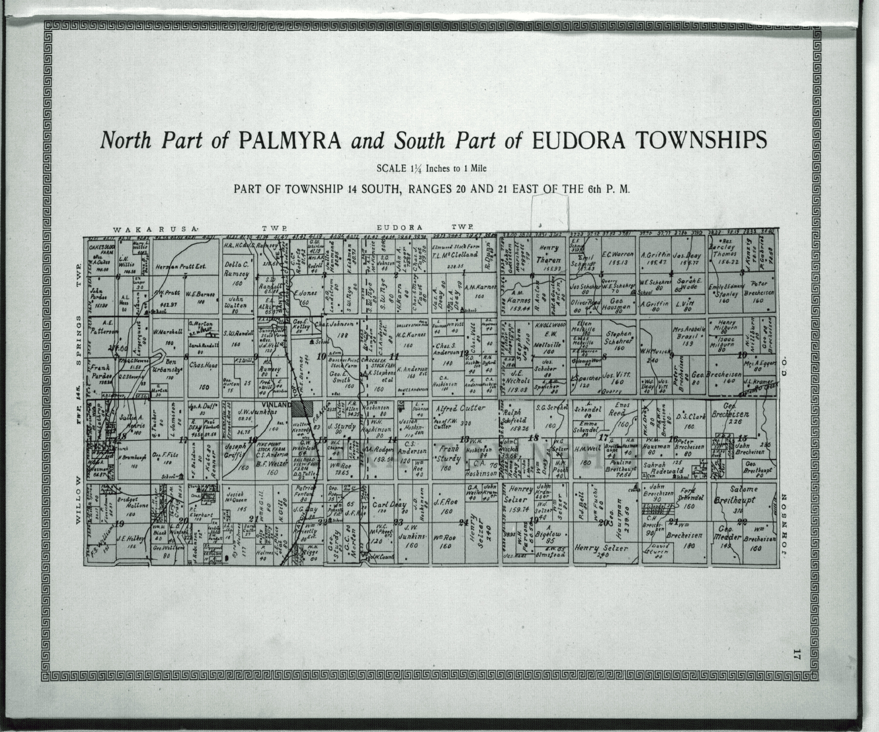 Plat book and complete survey of Douglas County, Kansas - 17