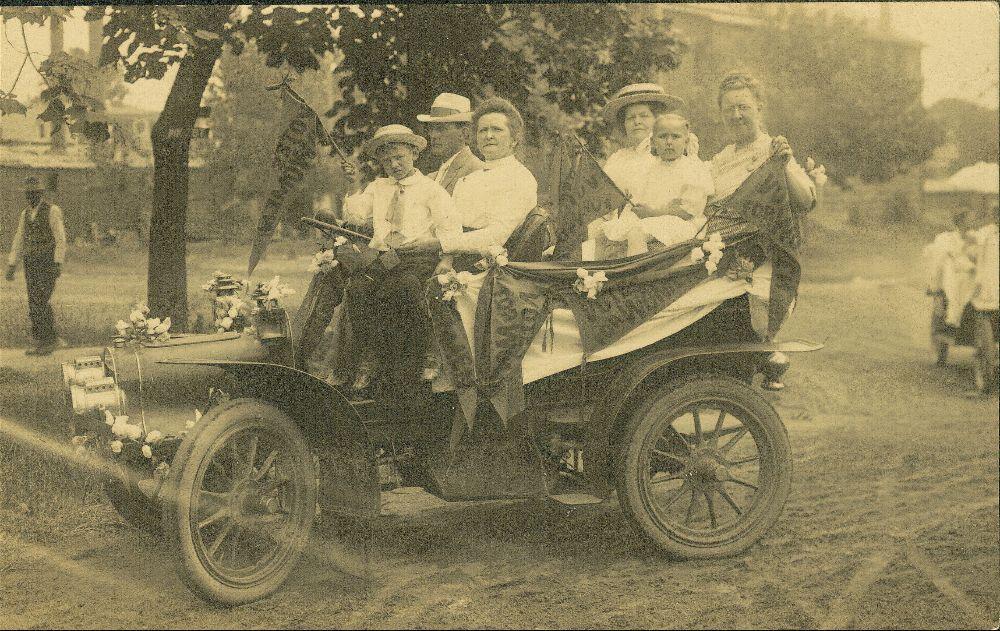 Parade for women's rights, Columbus, Kansas