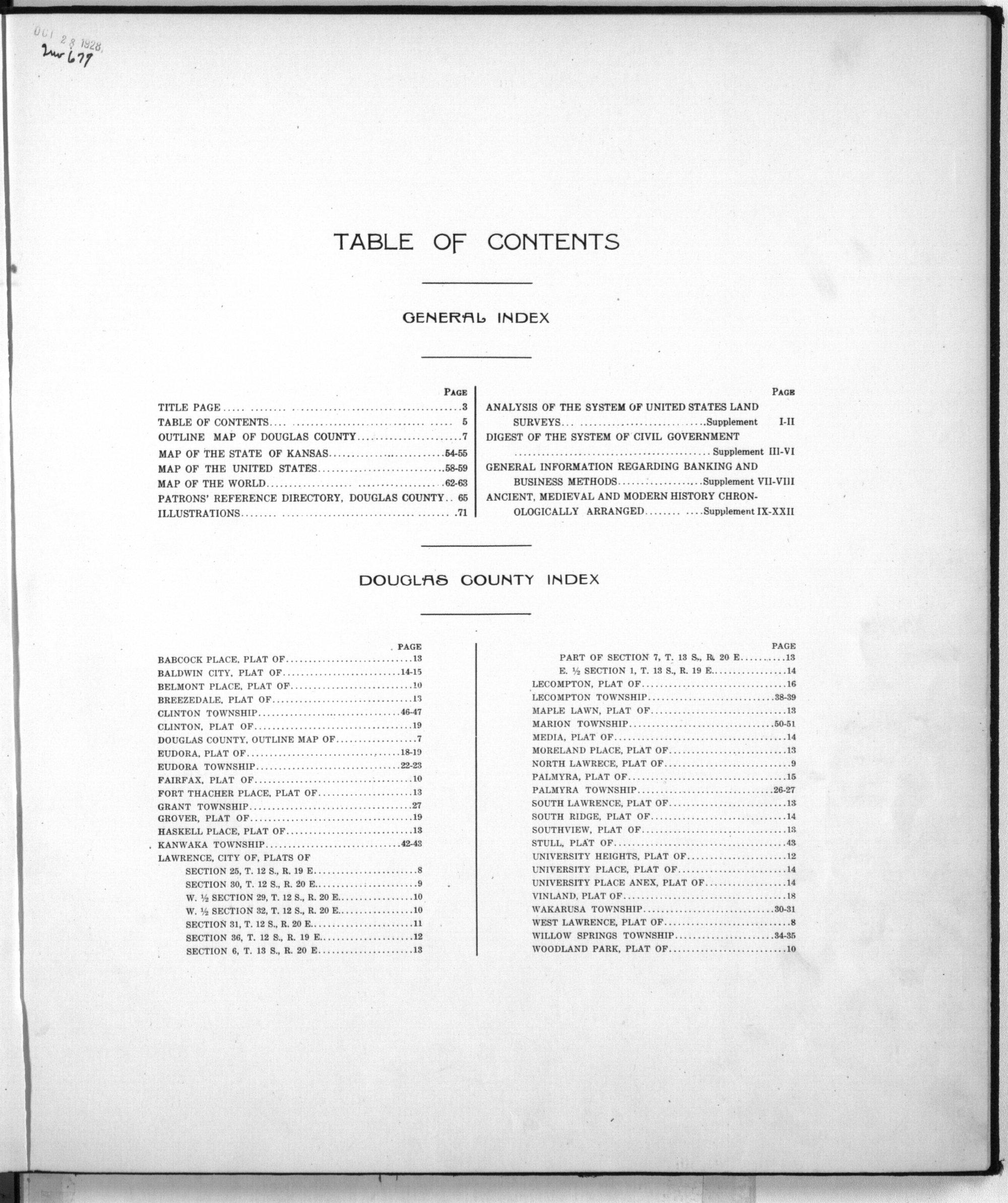 Standard atlas of Douglas County, Kansas - 2