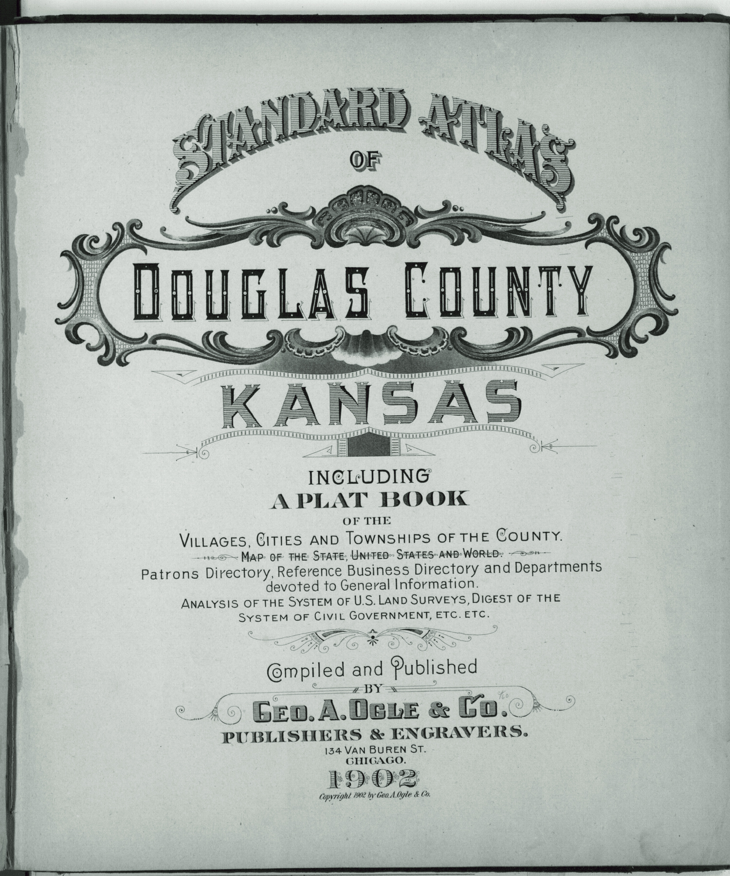 Standard atlas of Douglas County, Kansas - Title Page