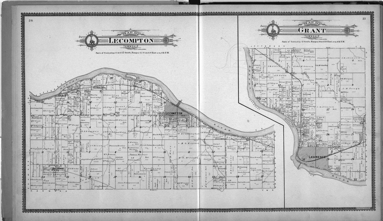 Standard atlas of Douglas County, Kansas - 26-27