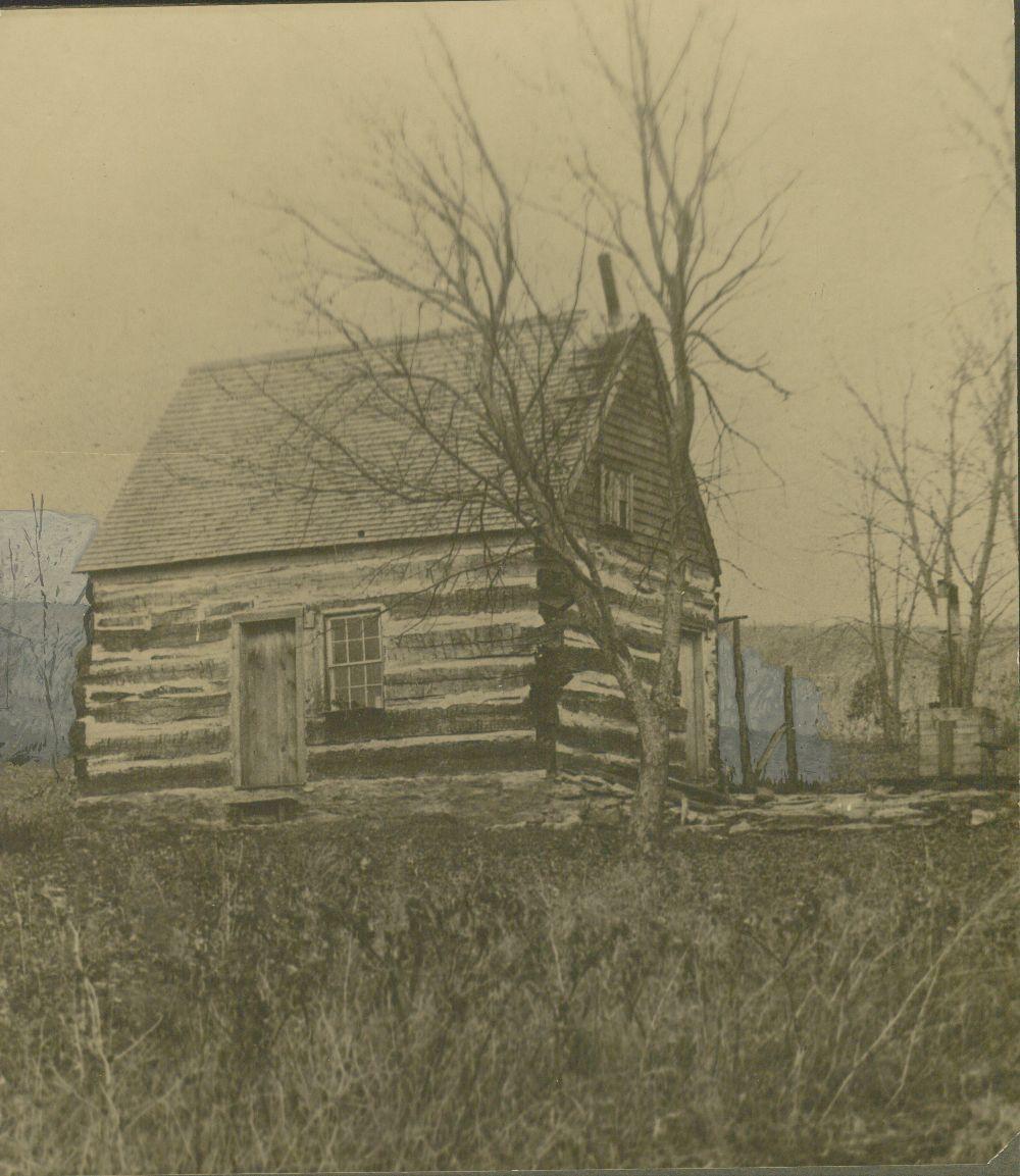 Log cabin of Joseph Gardner