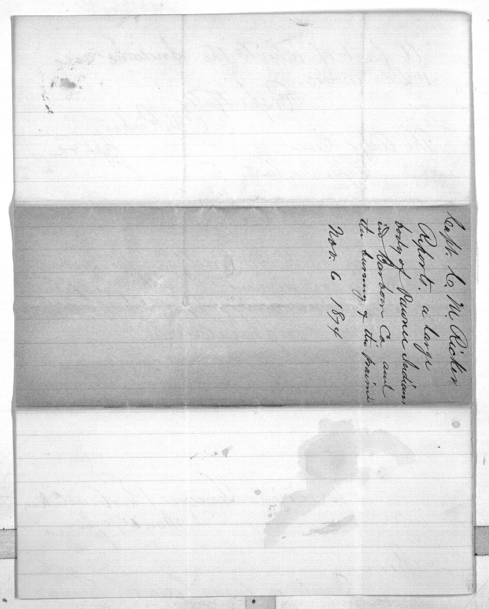 C. M. Ricker to Charles Morris - 3