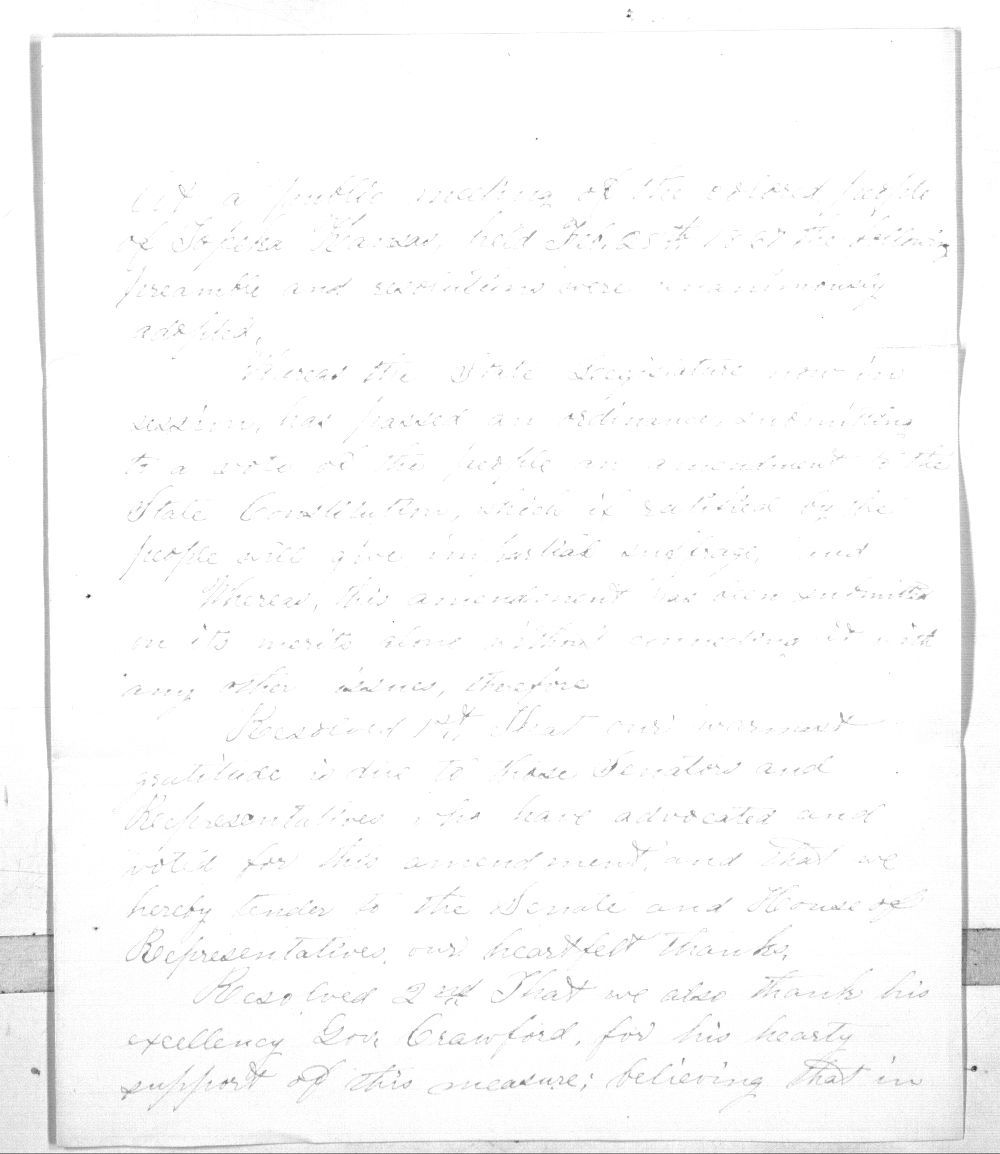 Colored people of Topeka to Governor Samuel J. Crawford - 2