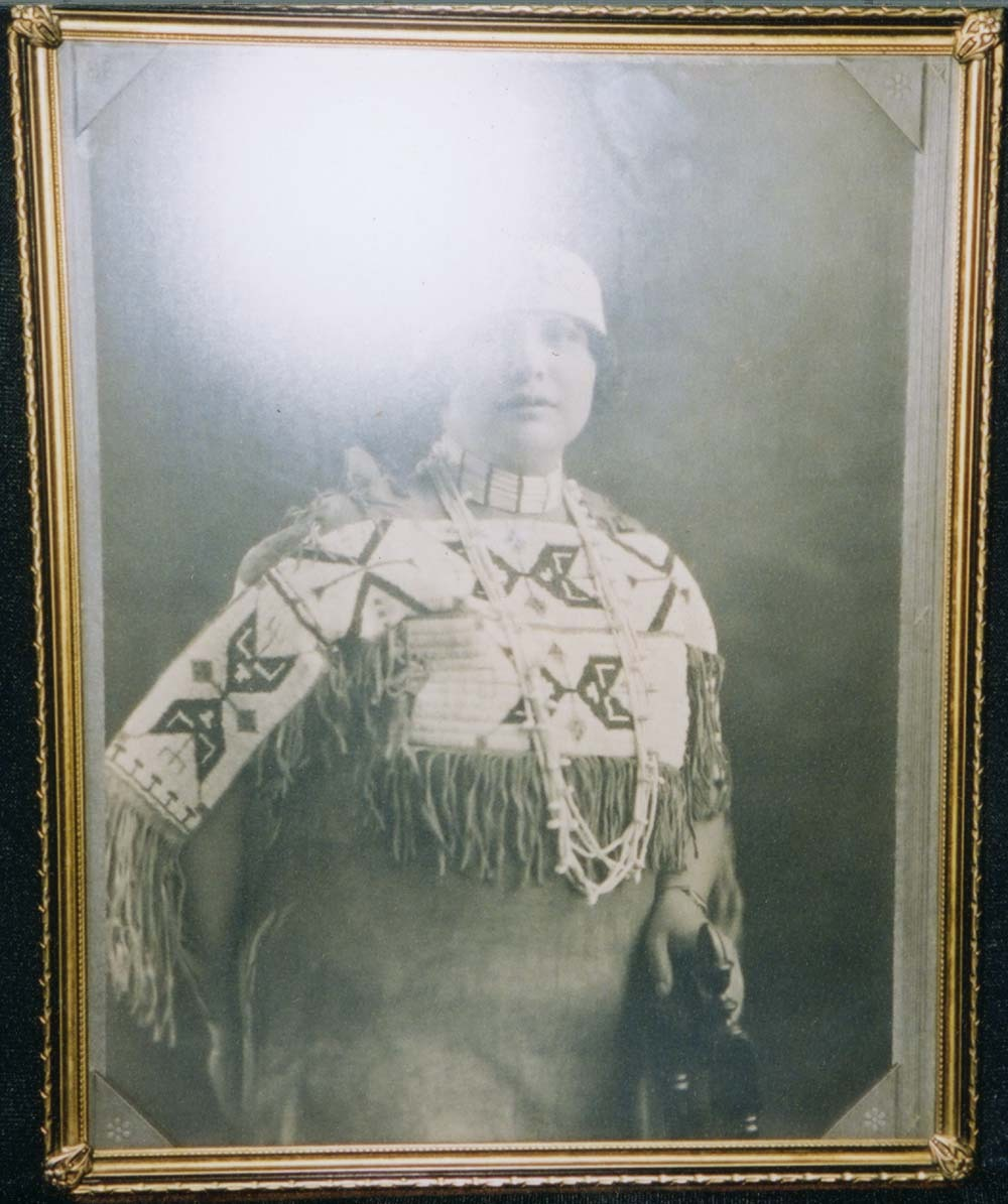 Unidentified member of the Kansa tribe
