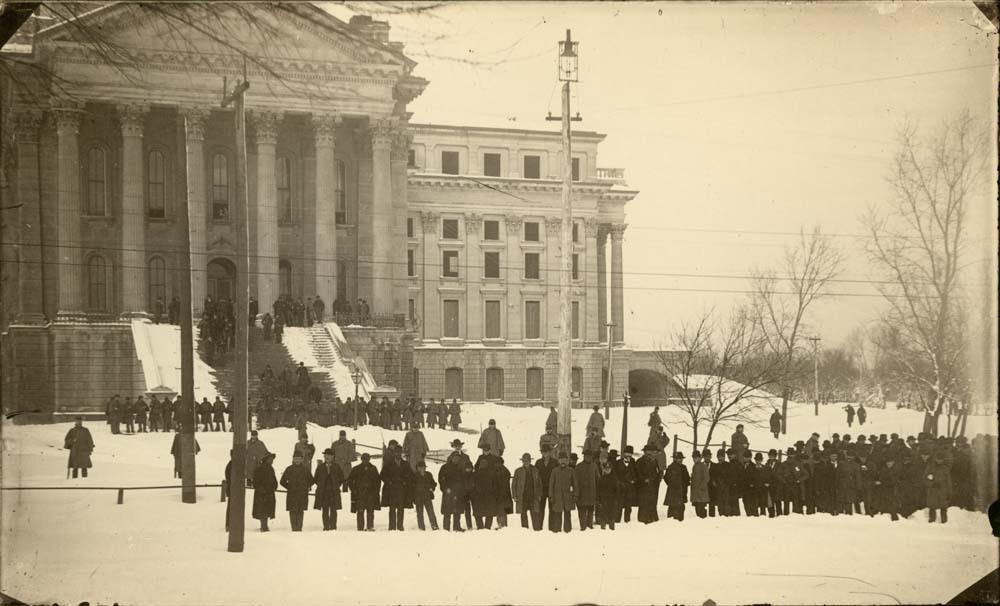 Militia at the Kansas Statehouse, Topeka, Kansas