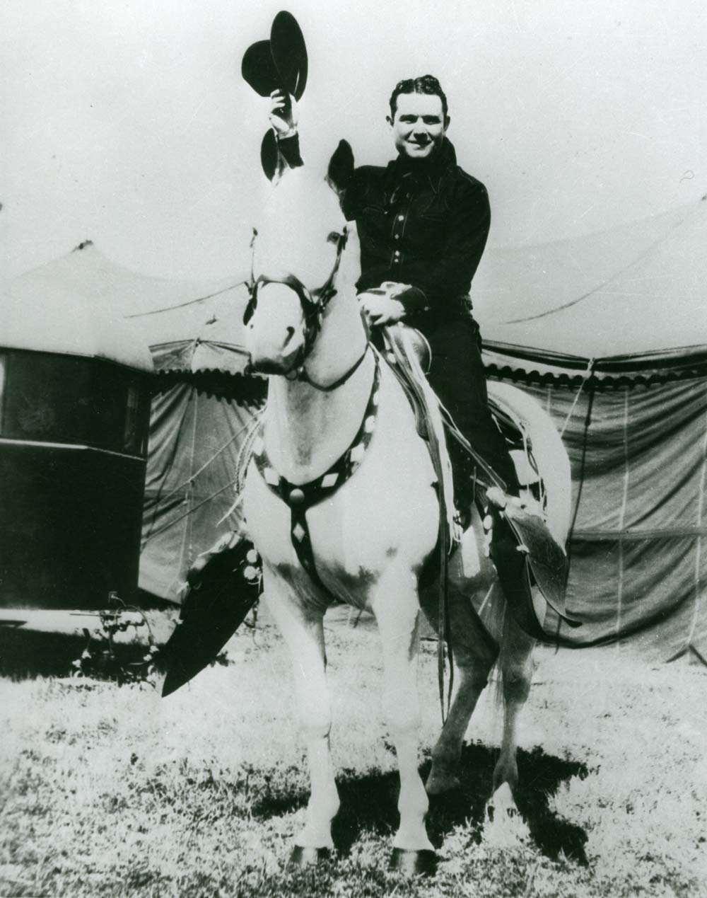Reb Russell and his horse Rebel