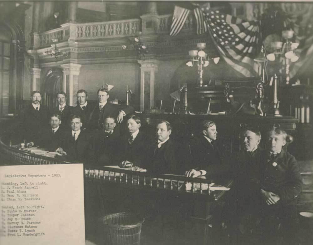 Legislative reporters at the Capitol - 1