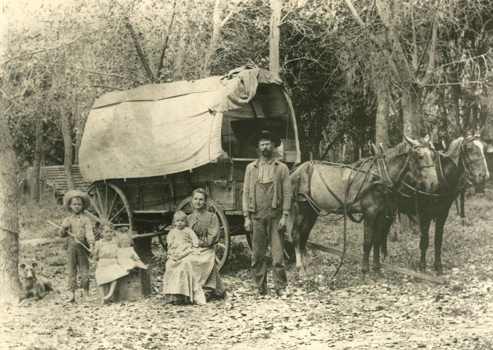 Fred Pearson and family, Johnson County, Kansas