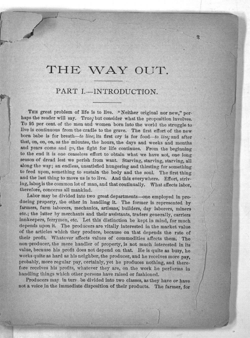The way out:  a scheme to establish a perfect financial system; to destory the influence of the money power, and prevent panics; to supply the people with money driect from the government, without the intervention of banks, at one per cent. . . . - 2