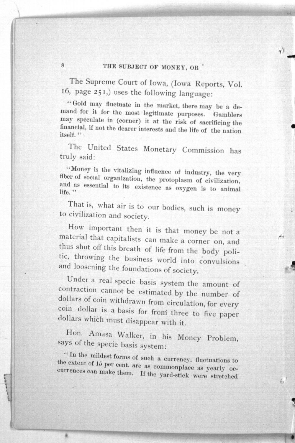 The Subject of Money Considered from the Standpoints of Law, Science, History, Reason. (Third Edition) - 8