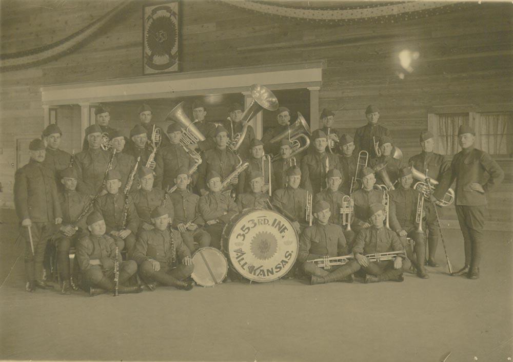 353rd Infantry Band at Camp Funston, Kansas