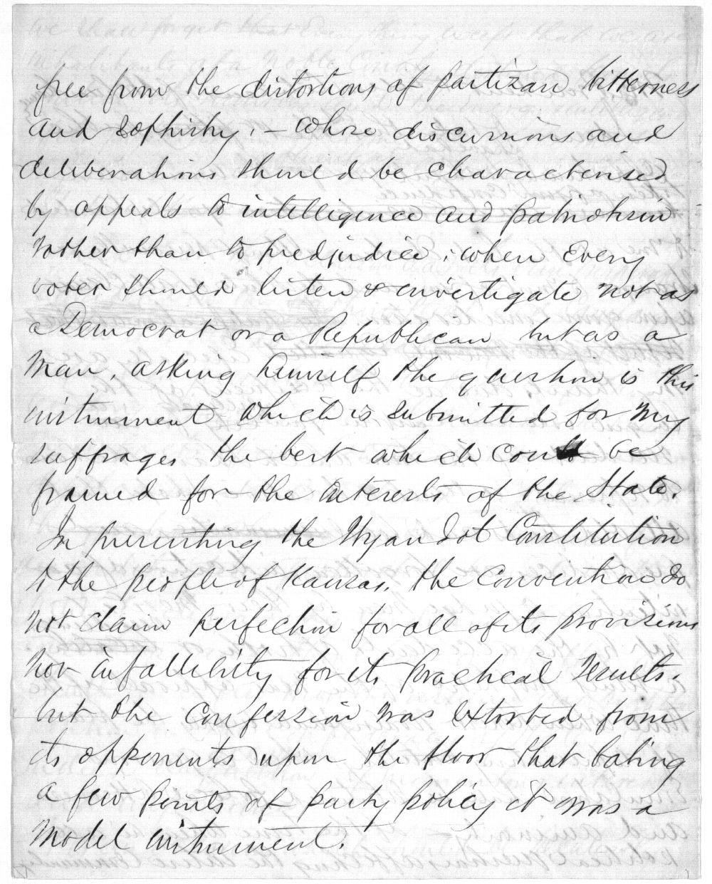 Speech written by John J. Ingalls - 3