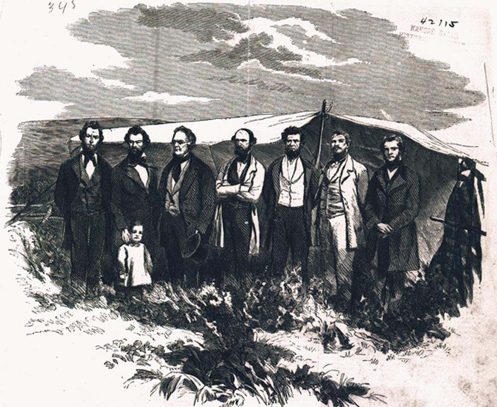 Free-State prisoners near Lecompton, Kansas Territory