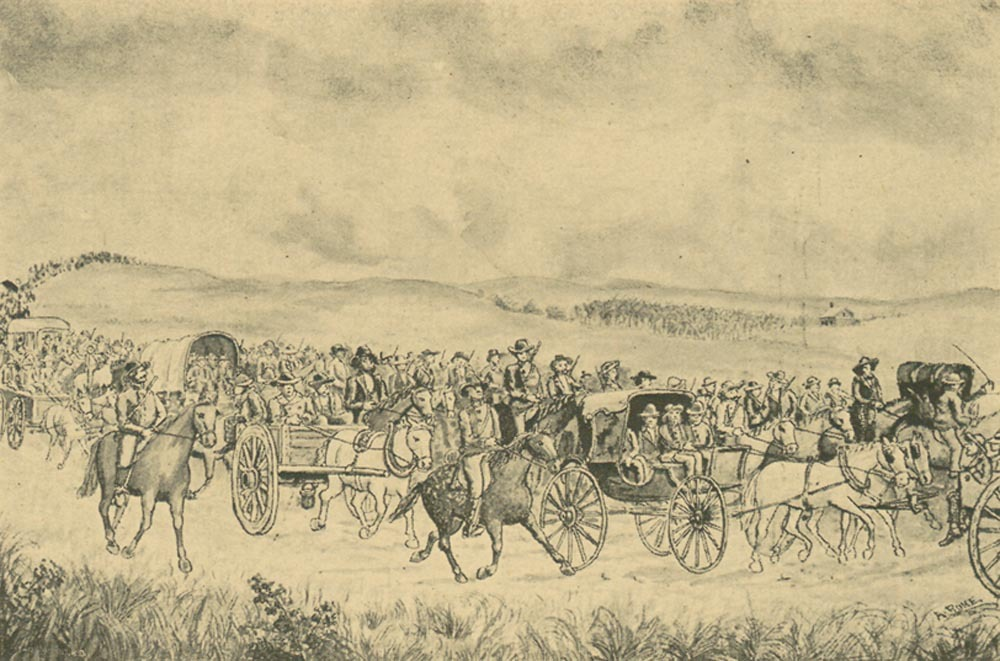 General Lane escorting the legislature to Lecompton