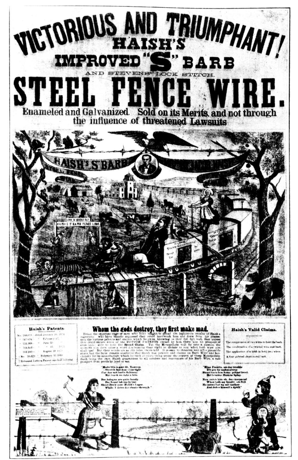 Barbed wire advertisement