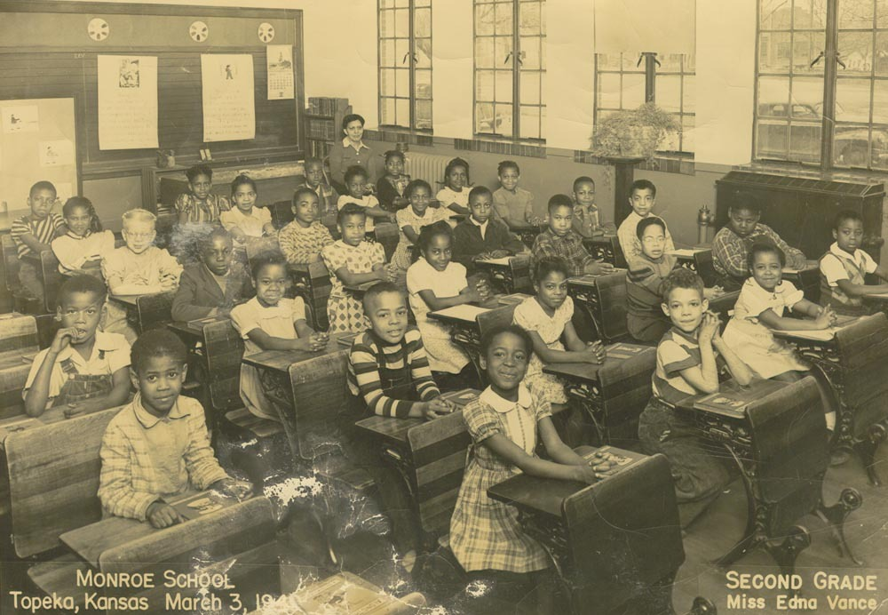 Second grade students at Monroe School, Topeka