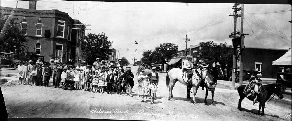 Children's parade, Dighton, Kansas
