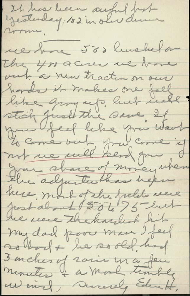 Edna Heim to Miss Clarice Snoddy