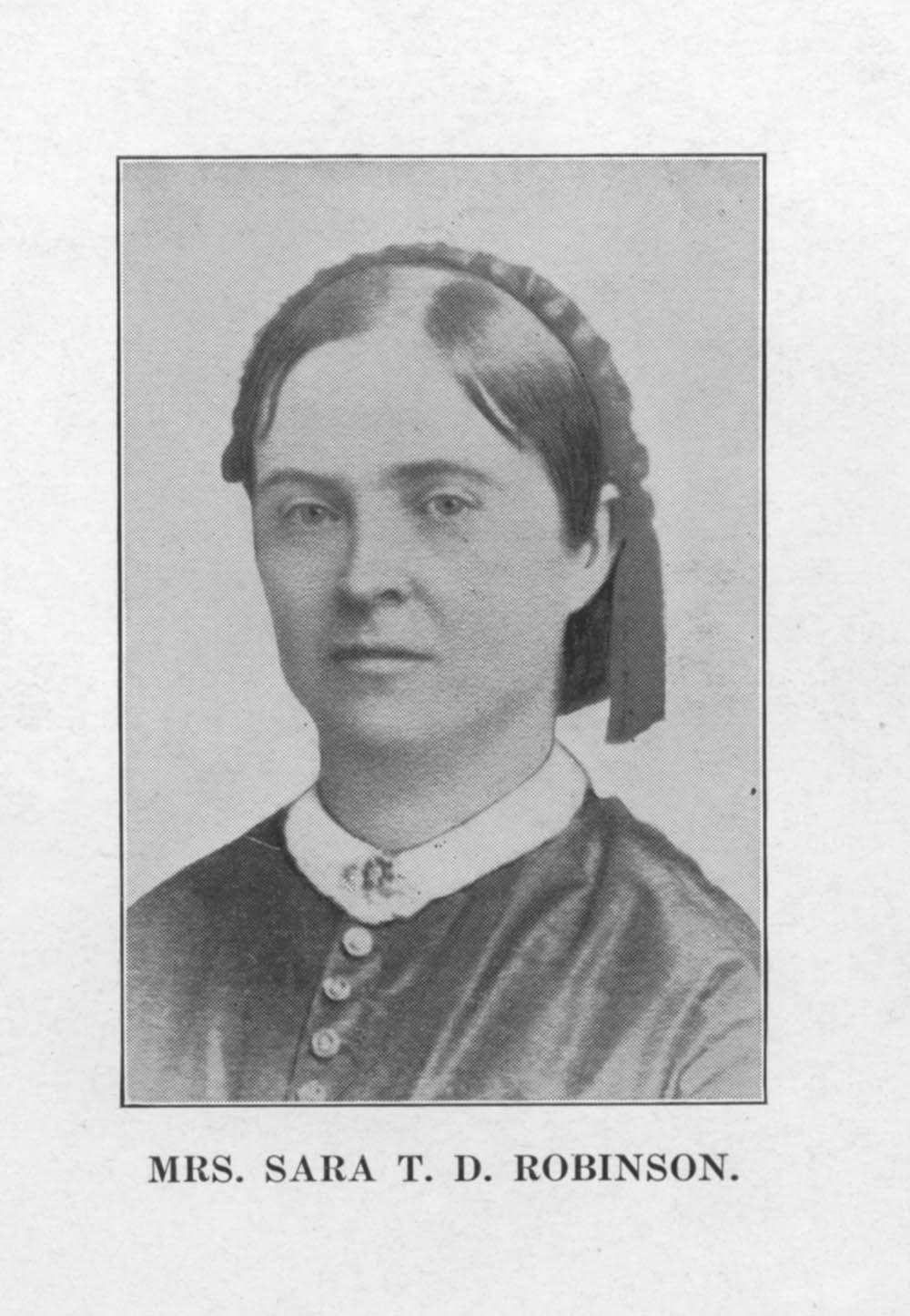 Sara Tappan Lawrence Robinson