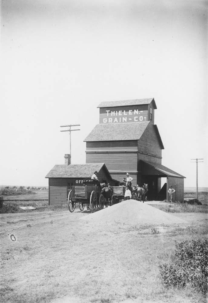 Thielen elevator, Dorrance, Kansas