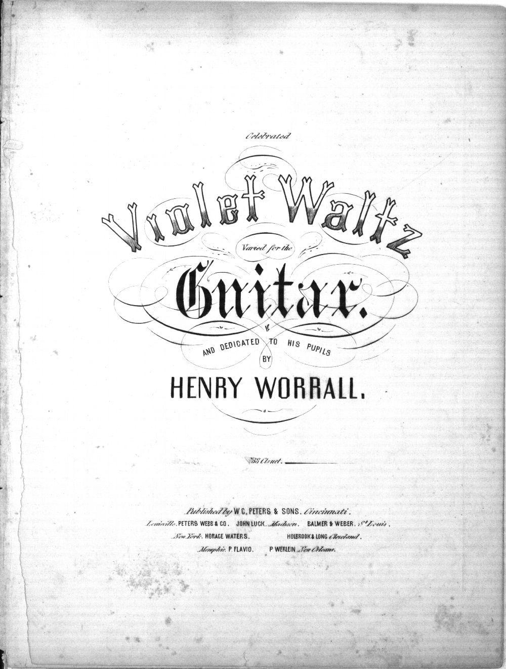 Celebrated violet waltz varied for the guitar - 1