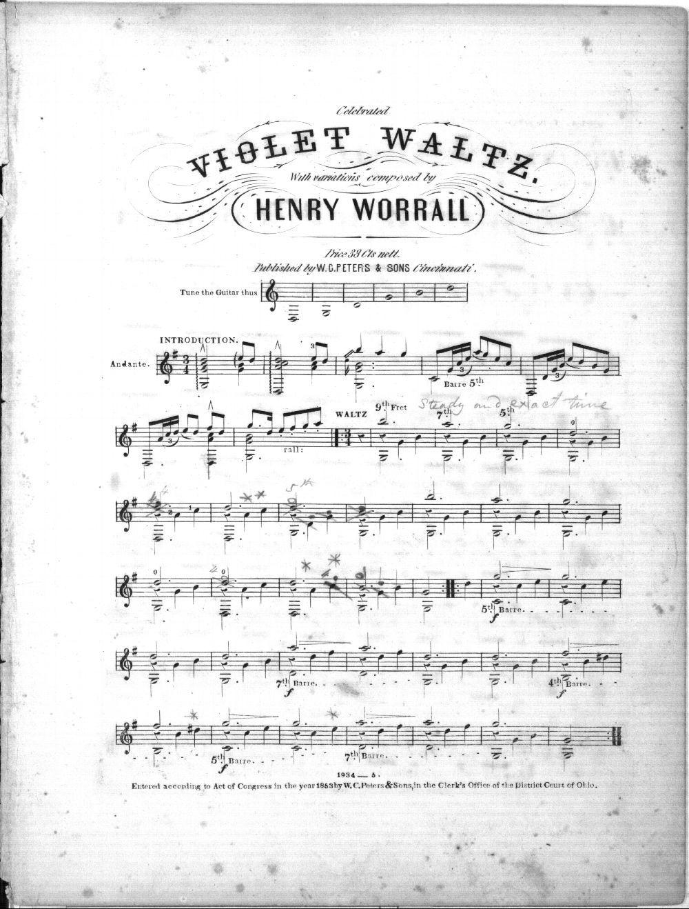 Celebrated violet waltz varied for the guitar - 2