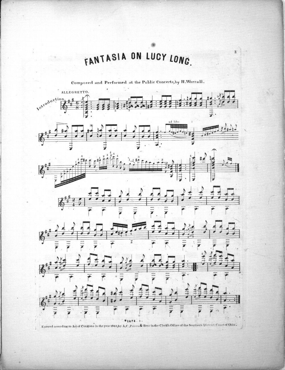 Fantasia on Lucy Long - 2
