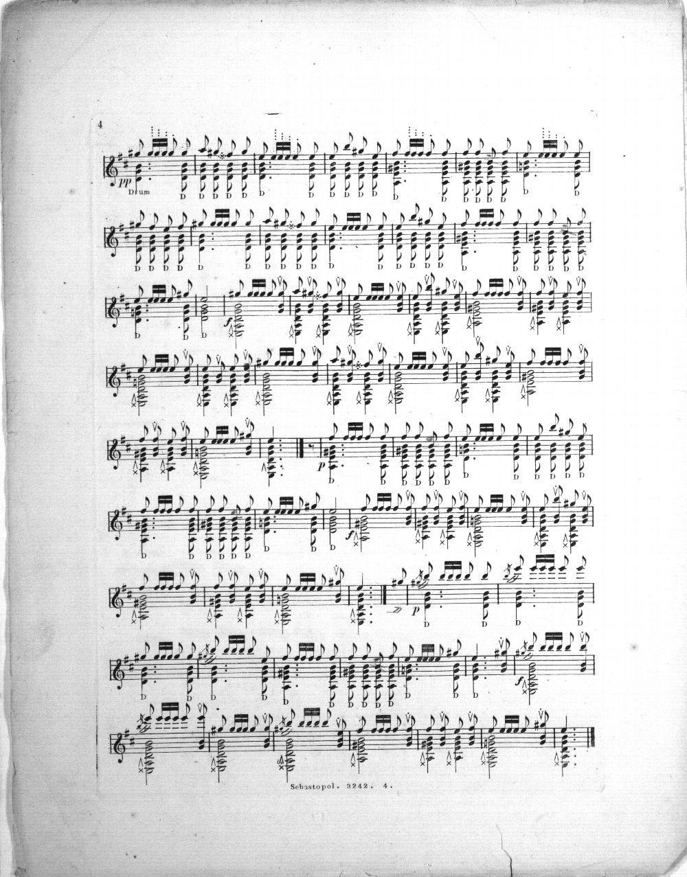 Sebastopol. A descriptive fantaisie for the guitar, by Henry Worrall - 3