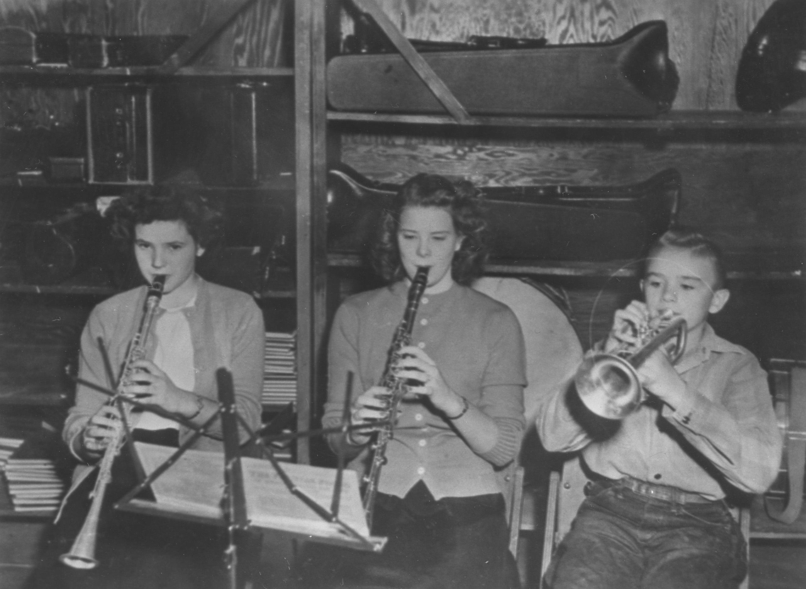 Cheney High School Band members, Cheney, Kansas