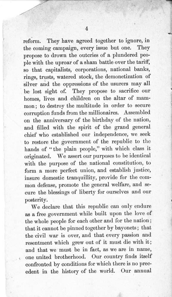 Constitution and by-laws of the People's Party Club - 5