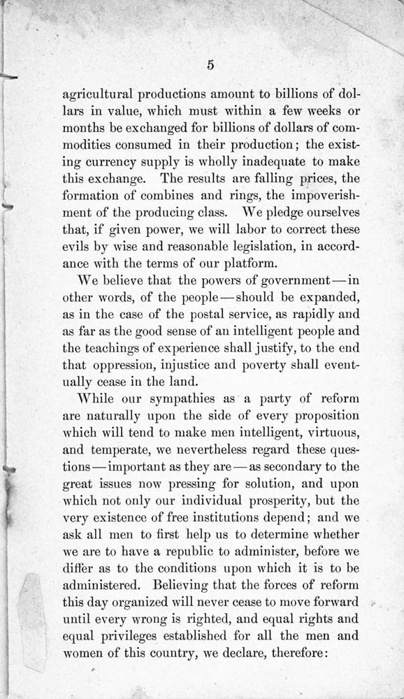 Constitution and by-laws of the People's Party Club - 6